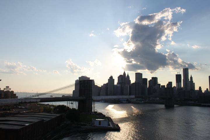 Manhattan dal ponte di Brooklyn
