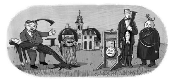 Il doodle degli Addams