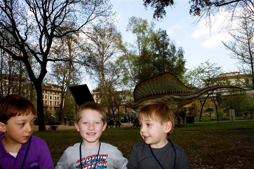 Filippo, Cristian e Damiano, i bambini protagonisti della giornata