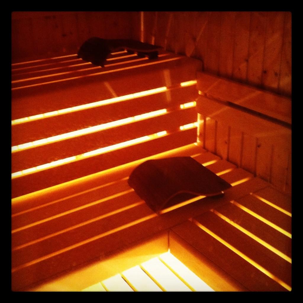 La sauna delle Terme della Versilia