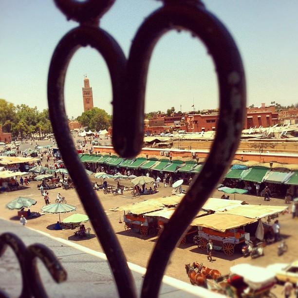 vista dall'alto su piazza jemaa el fna