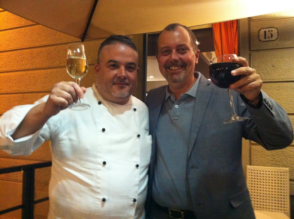 Lo chef Sandro Pedica e Andrea Bargigli, Sales e Marketing Director del Grand Hotel Minerva