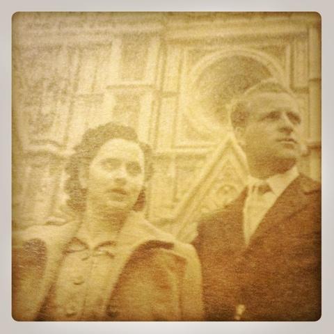 I miei nonni paterni a Firenze negli anni 50