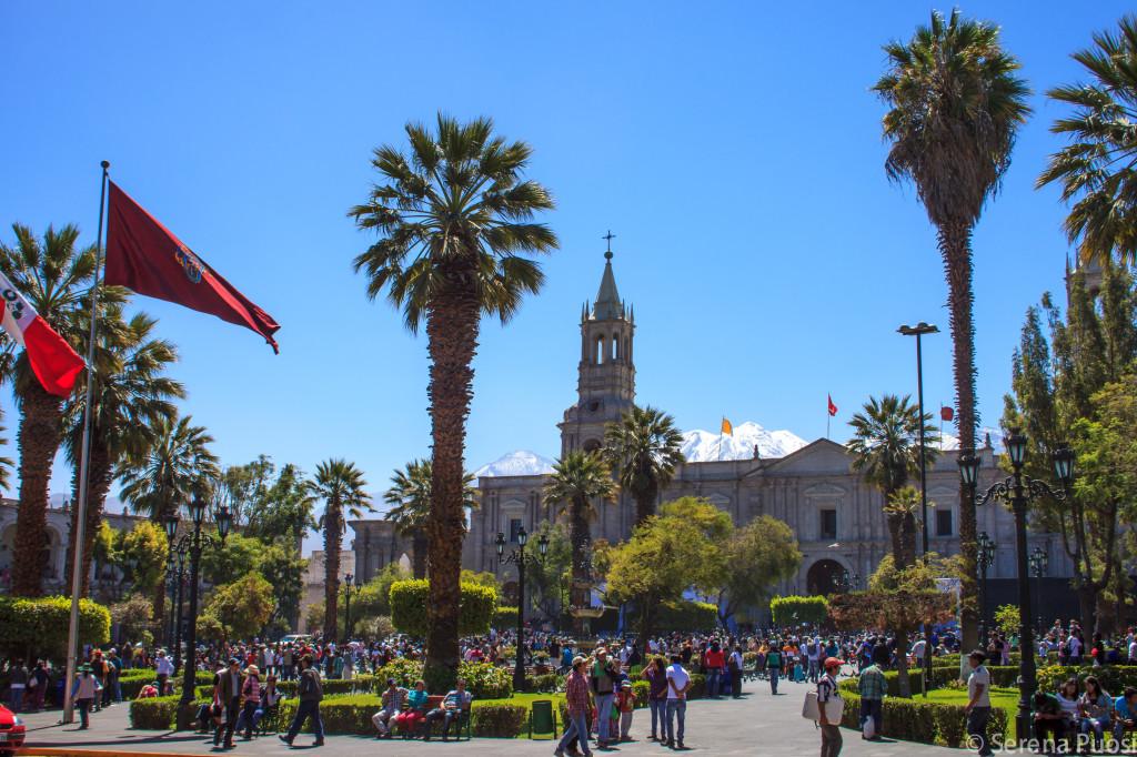 Plaza de Armas di Arequipa