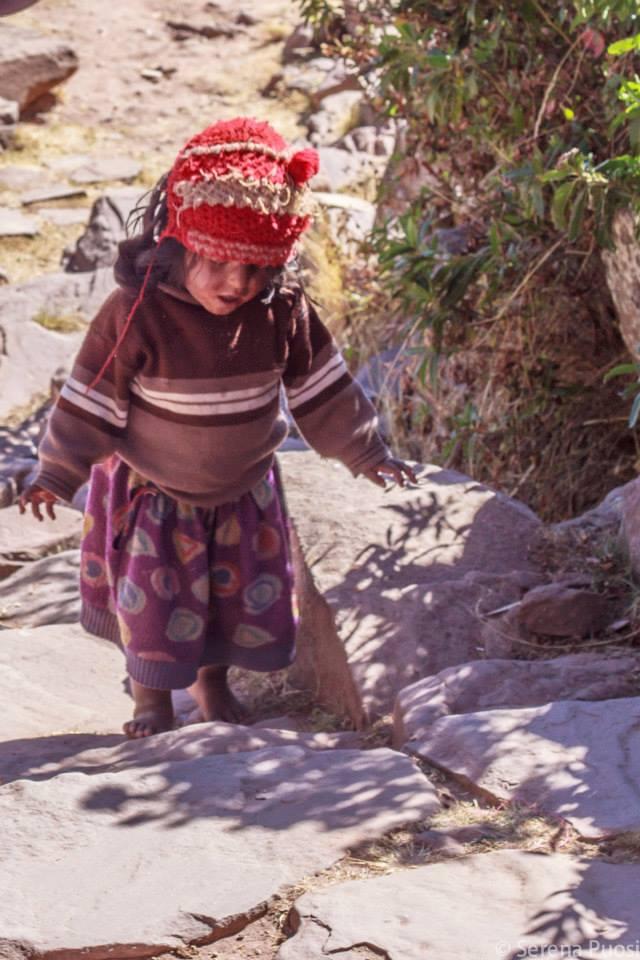 Bambina della Isla de Taquile