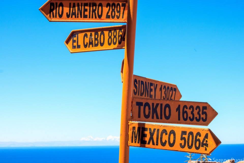 Cartelli alla isla de Taquile