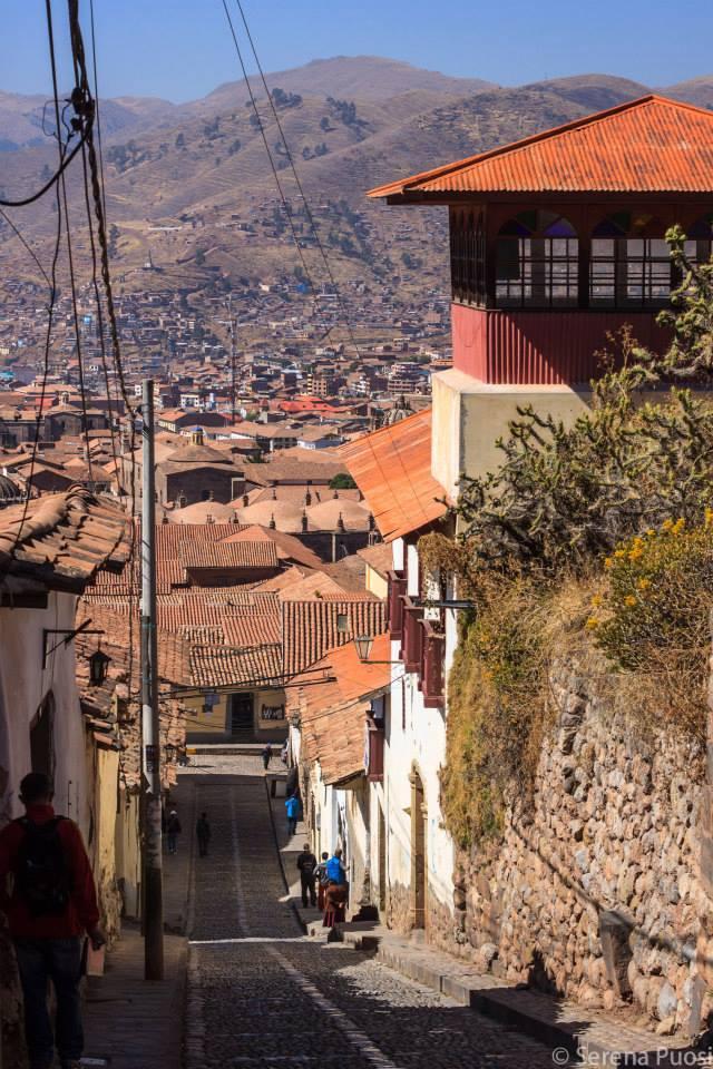 Una delle tante salite di Cusco