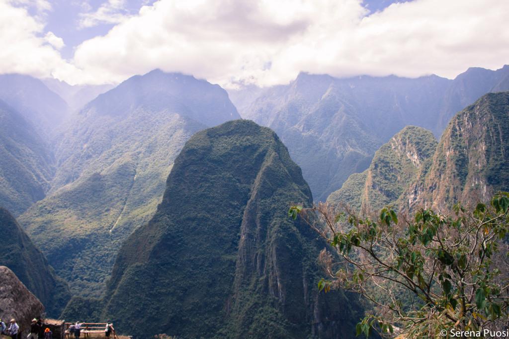 Davanti a Machu Picchu
