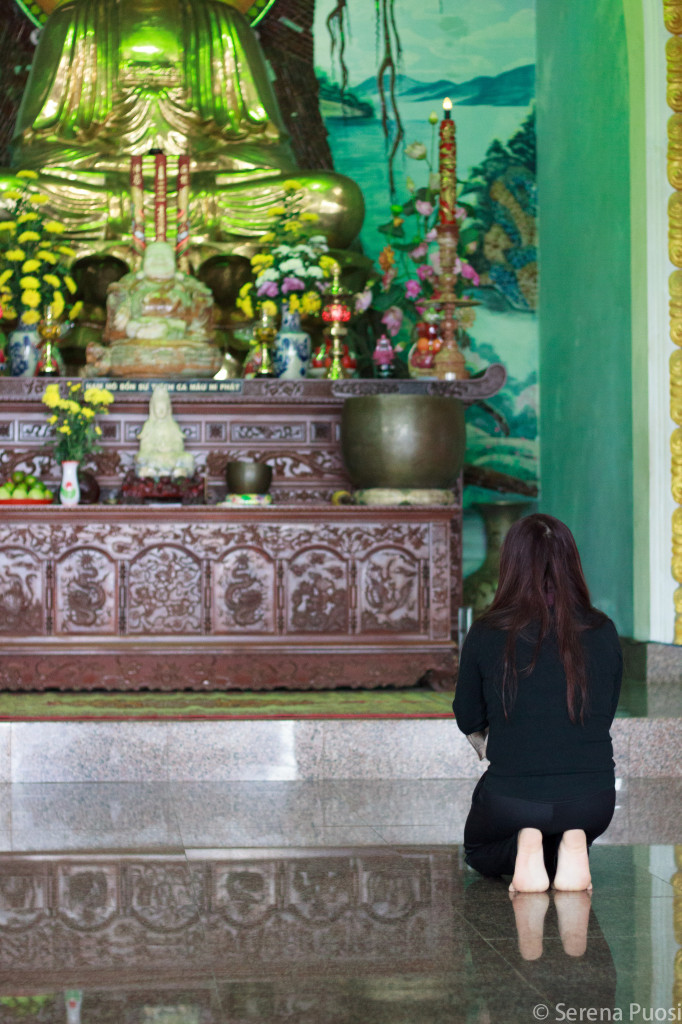 Dentro una pagoda a Danang