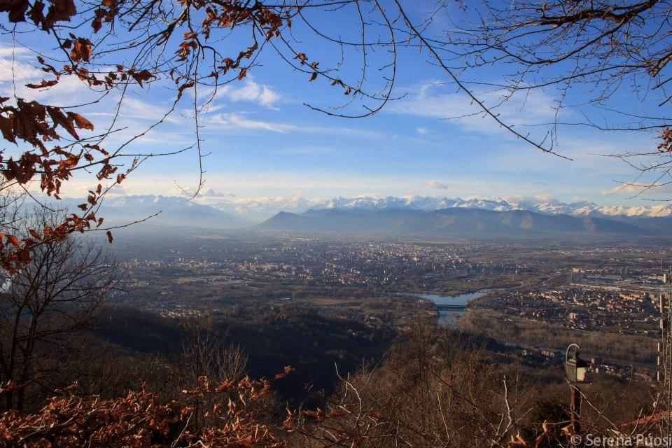 Le Alpi e Torino viste da Superga