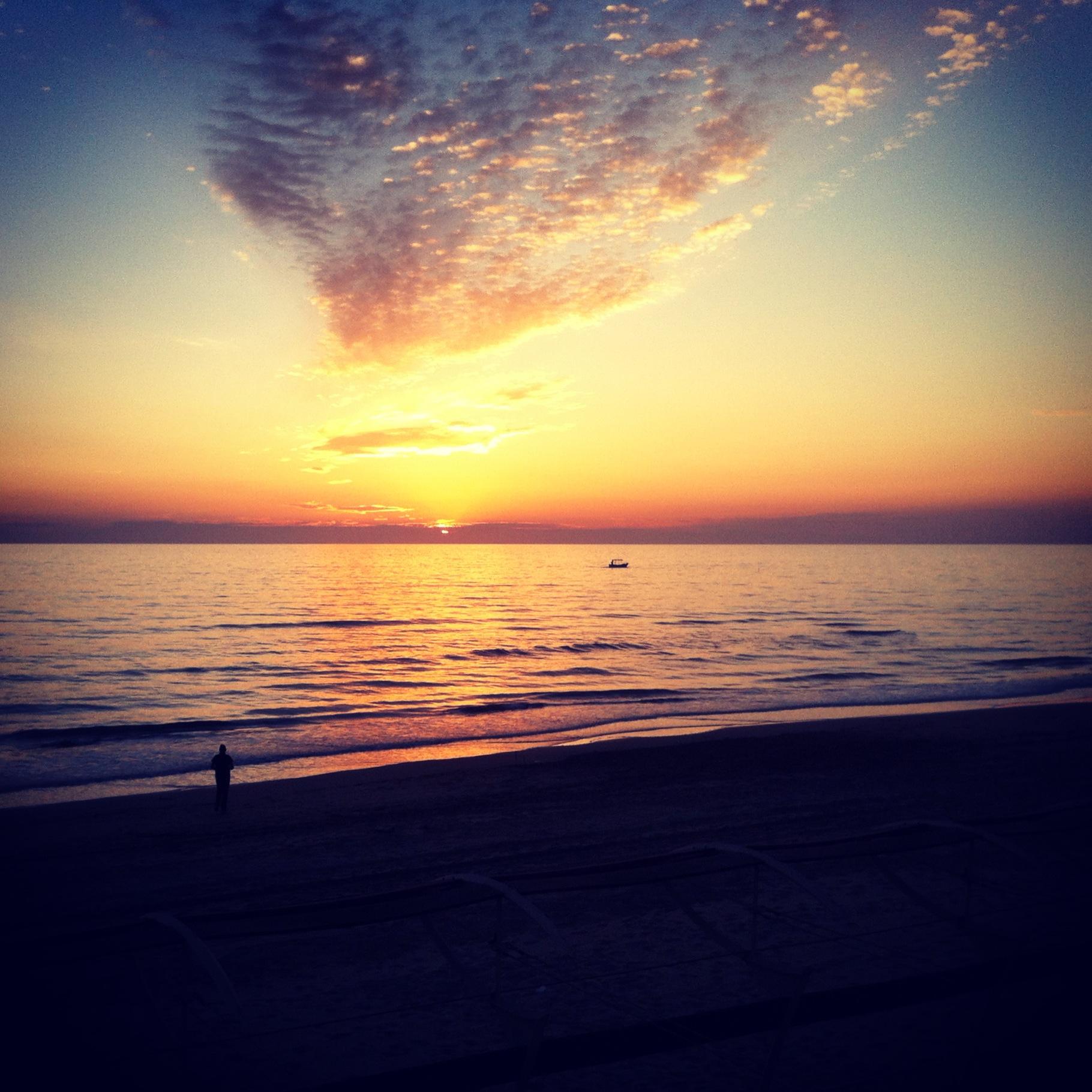 Un tramonto a San Vincenzo
