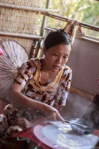 Produzione della carta di riso