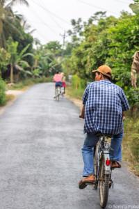 In bici sul Delta del Mekong