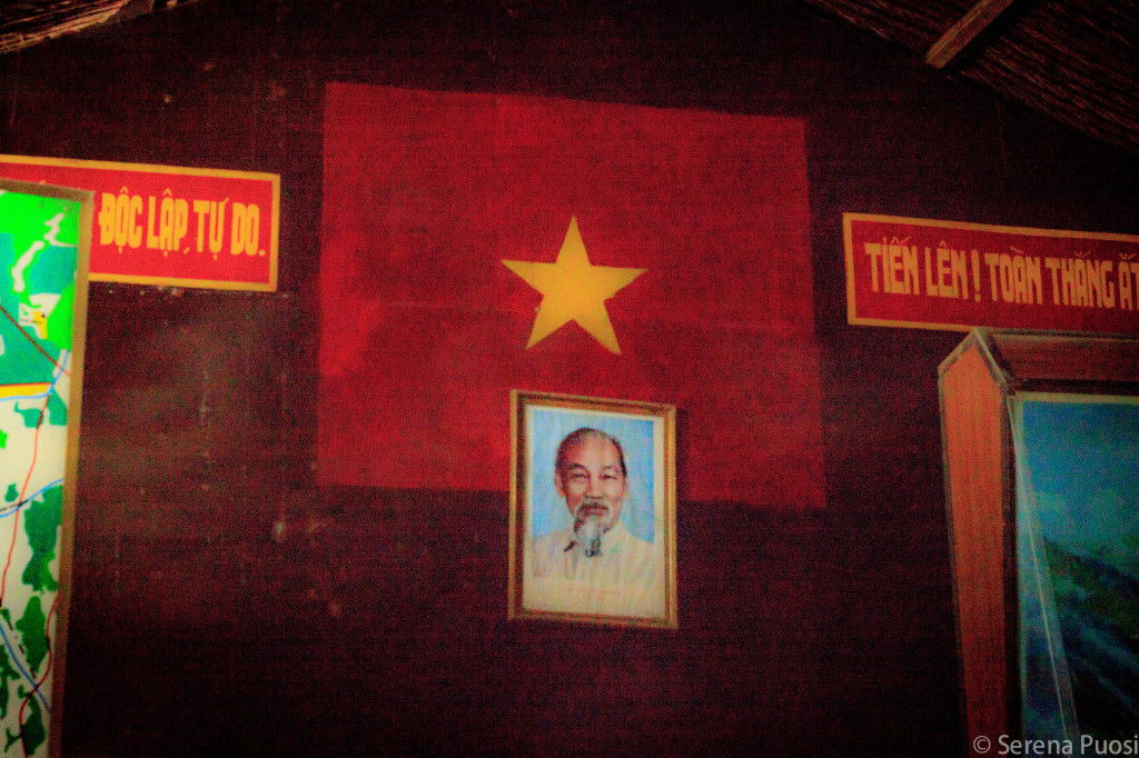 Ho Chi Minh campeggia nel bunker