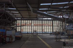 Gli hangar a Francoforte