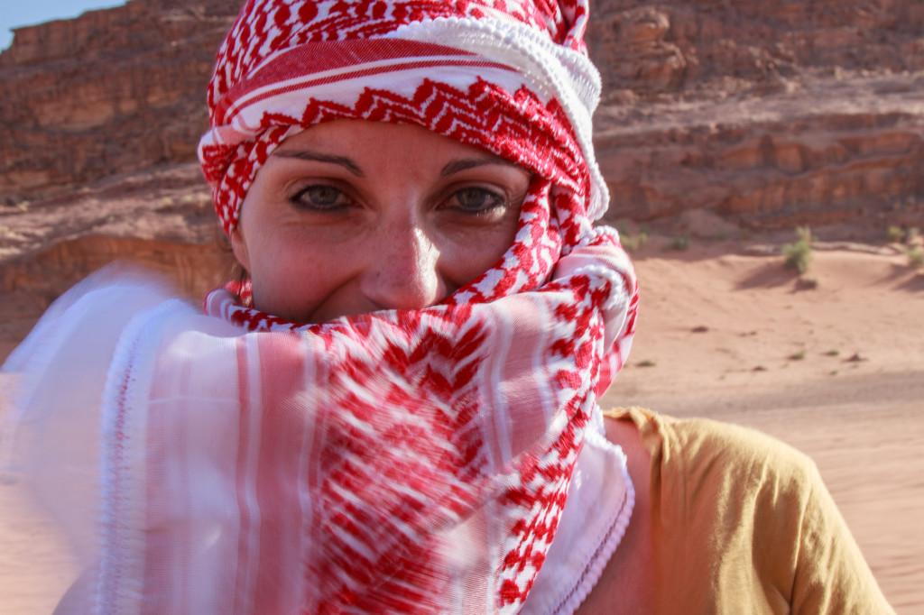 Nel deserto del Wadi Rum