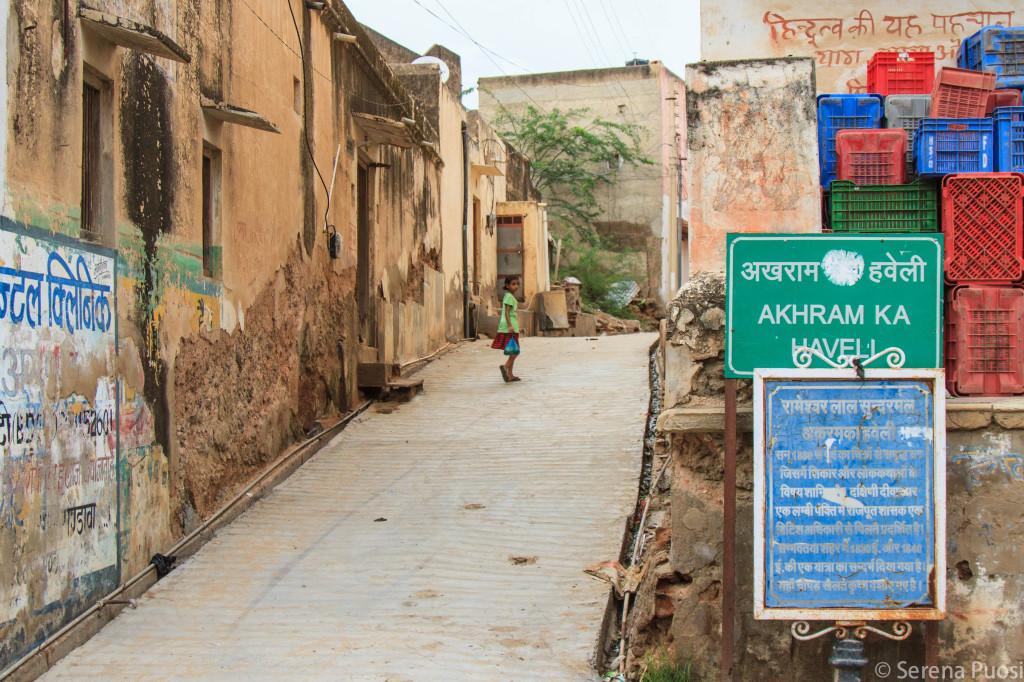 La strada principale di Mandawa