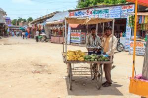 Banchetti lungo le strade indiane