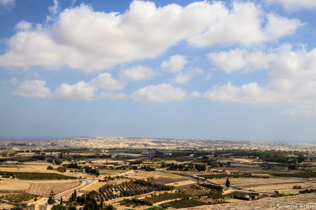 Il panorama dai bastioni di Mdina
