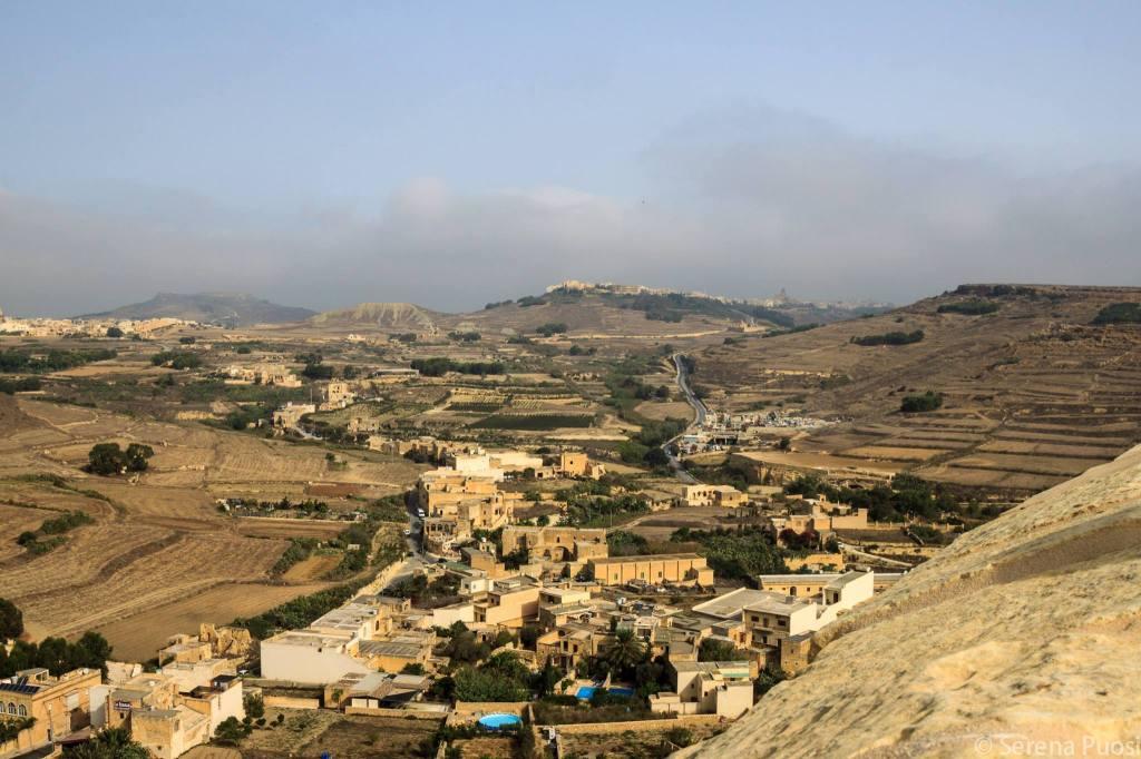 La campagna di Gozo nei dintorni di Victoria