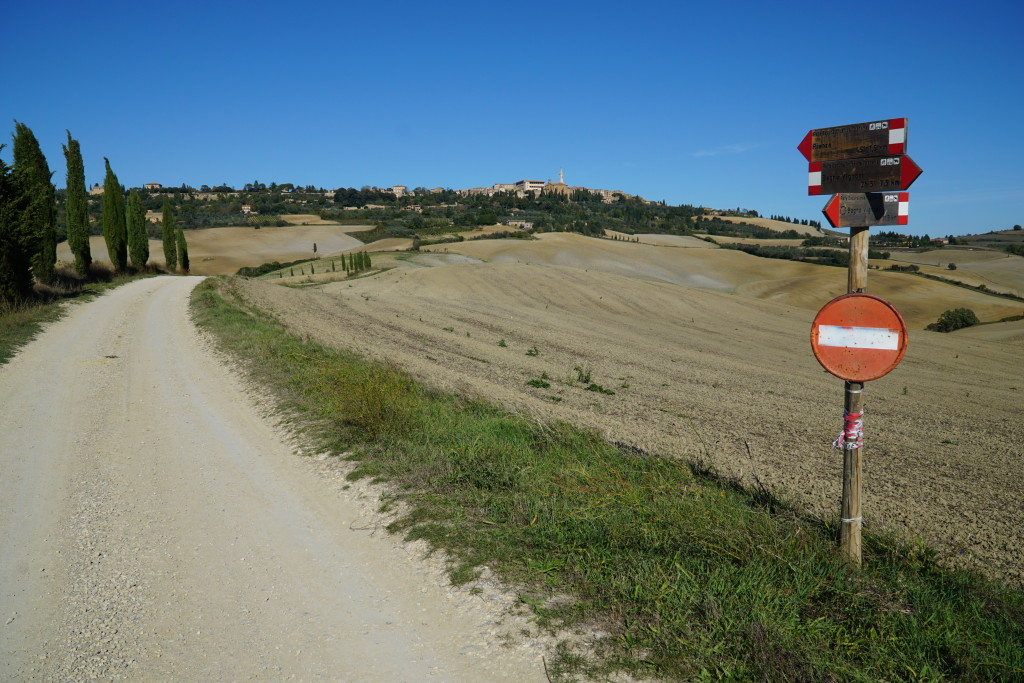 Strade sterrate in Val d'Orcia