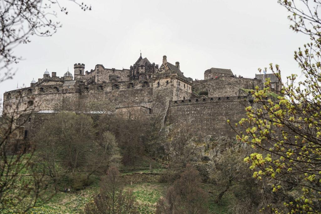 veduta sul castello di edimburgo