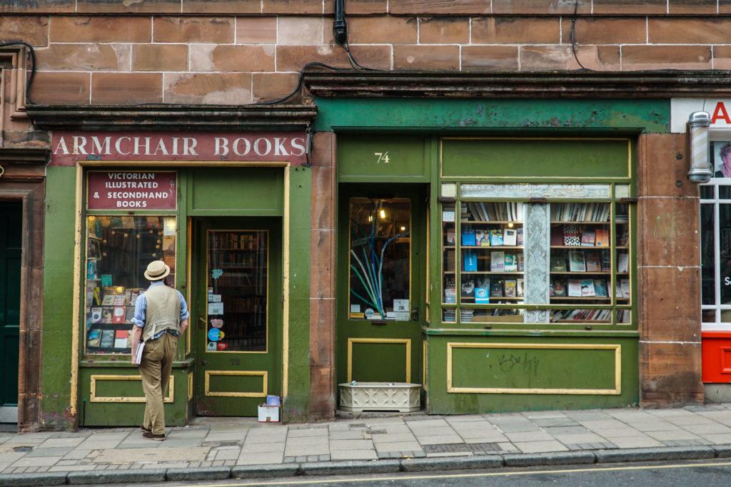 libreria a edimburgo