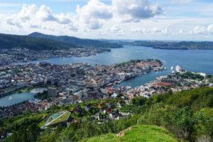Bergen dall'alto