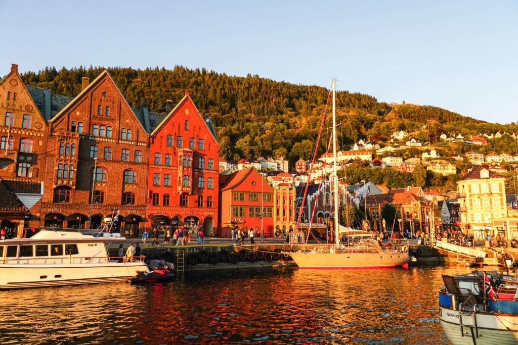 Bryggen al tramonto