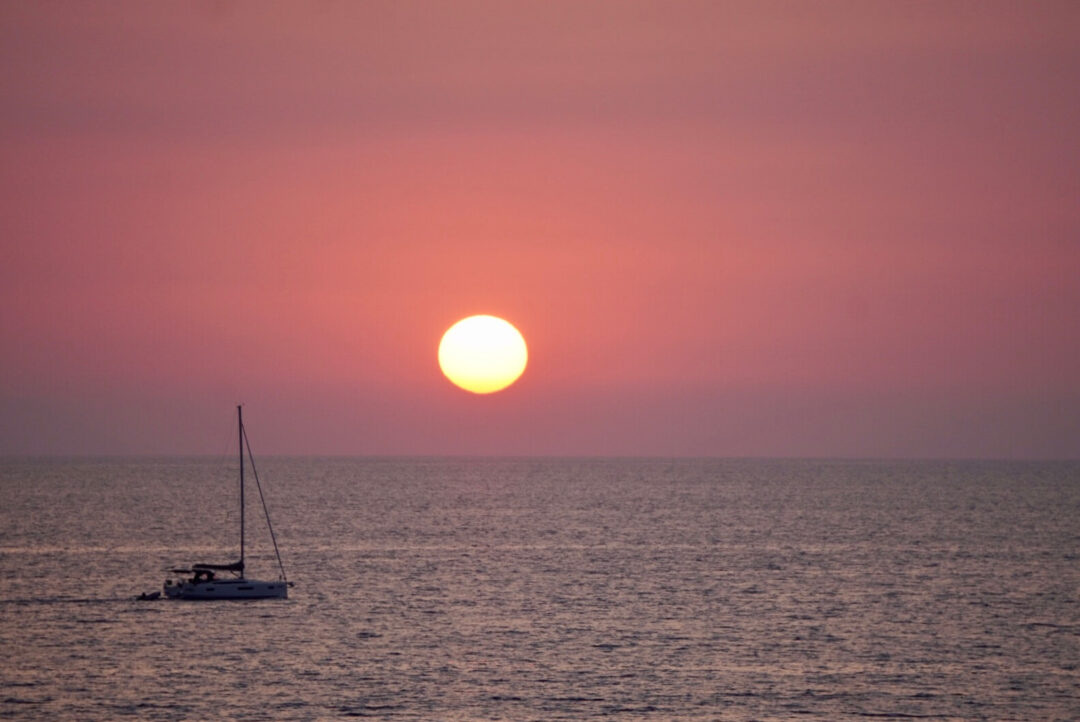 tramonto ad Amantea