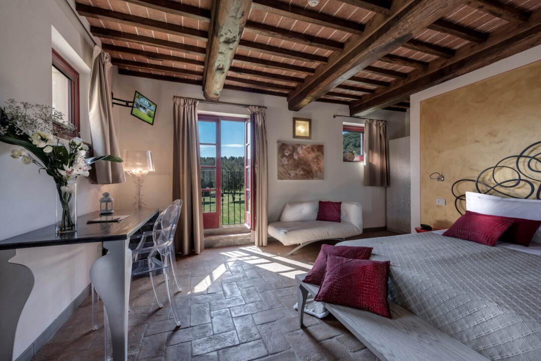 camera deluxe Hotel Casolare Le Terre Rosse
